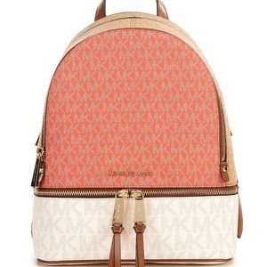 MICHAEL KORS Rhea logo medium tri-color women's backpack bag